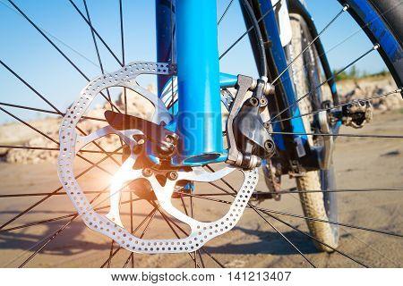 Detail disc brakes on mountain bike picture