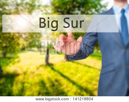 Big Sur - Businessman Pressing Virtual Button