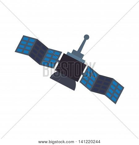Satellite antenna science internet communication icon. Isolated and flat illustration. Vector graphic