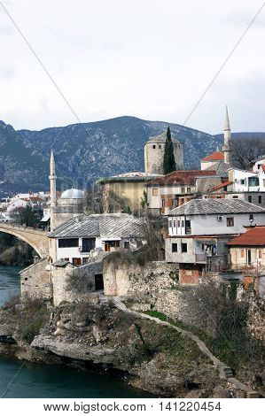 Old Mostar near the Neretva river, Bosnia and Herzegovina