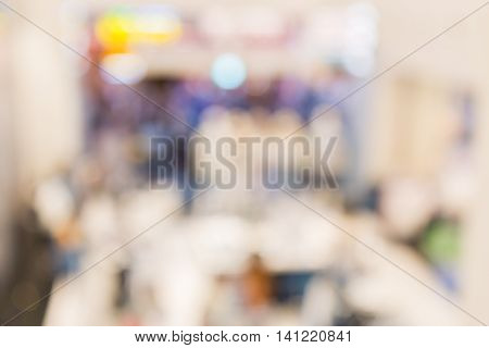 Abstract Blurred Background Of Department Store Interior Cloth Fashion Zone.