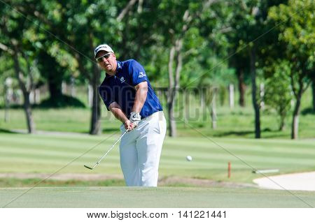 CHONBURI - JULY 31 : Jaco Ahlers of South Africa in King's Cup 2016 at Phoenix Gold Golf & Country Club Pattaya on July 31 2016 in Chonburi Thailand.