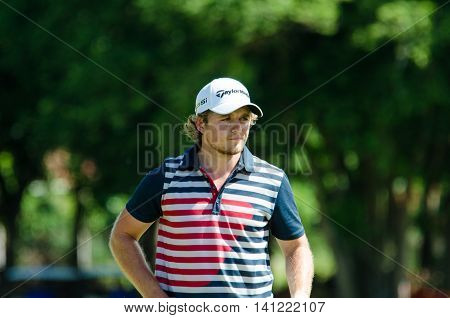 CHONBURI - JULY 31 : Eddie Pepperell of England Taipei winner in King's Cup 2016 at Phoenix Gold Golf & Country Club Pattaya on July 31 2016 in Chonburi Thailand.