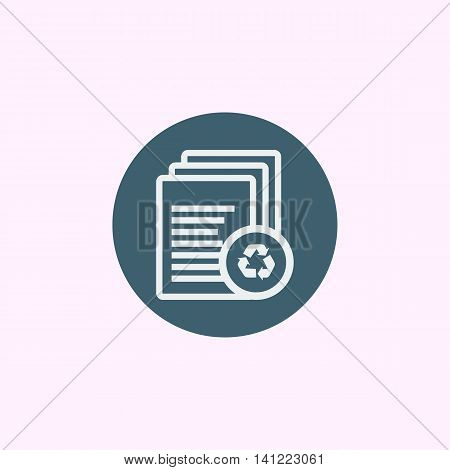 Files Recycle Icon In Vector Format. Premium Quality Files Recycle Symbol. Web Graphic Files Recycle