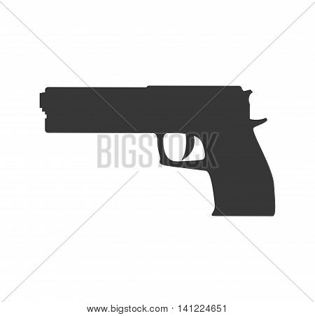 gun armed forces military icon. Isolated and flat illustration. Vector graphic