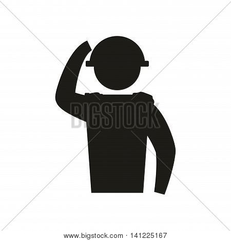 soldier armed forces military icon. Isolated and flat illustration. Vector graphic