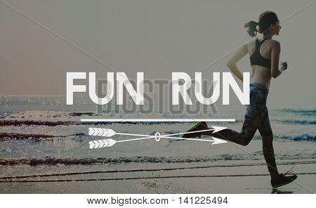Fun Run Running Jogging Sprint Activity Concept