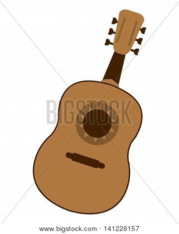 flat design single guitarron icon vector illustration