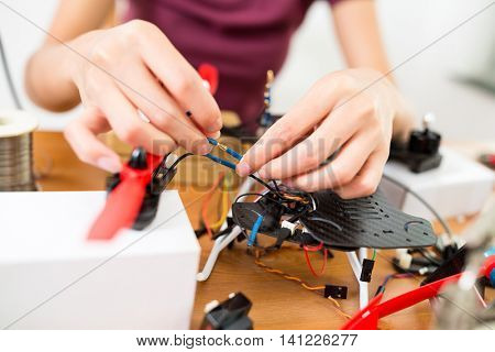 Assembler of drone at home