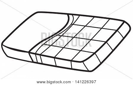 Vector illustration of a chocolate bar in black and white outlined doodle style