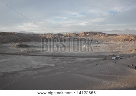 The moonscape of the Valley of the Moon