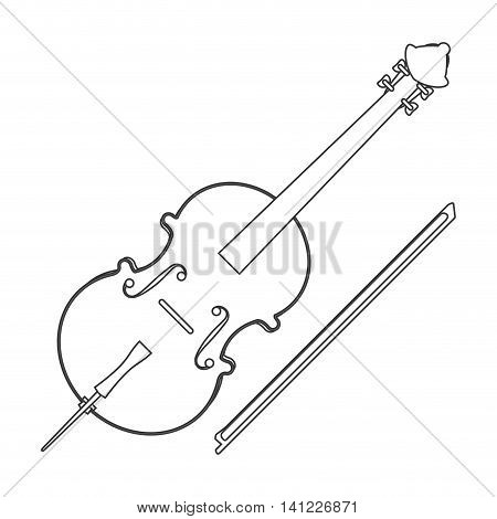 flat design single violin icon vector illustration