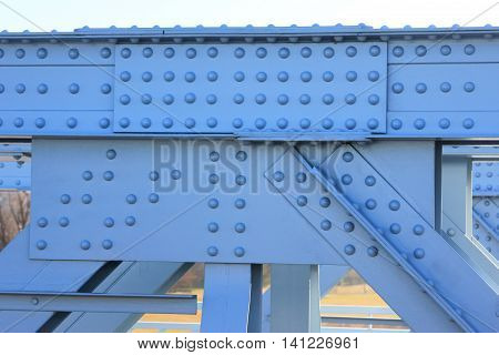 Riveted steel structure of a bridge (detail)