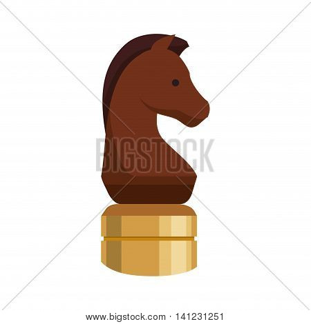 Chess horse game strategy icon. Isolated and flat illustration. Vector graphic