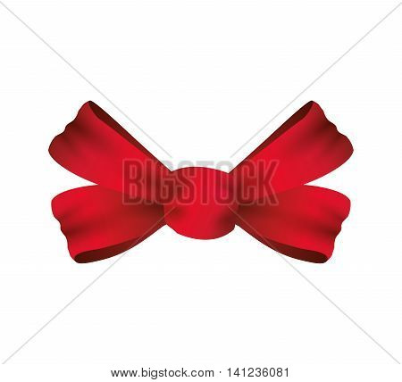 bowtie ribbon label red banner icon. Isolated and flat illustration. Vector graphic
