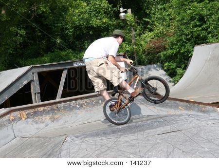Biker Wheel Standing