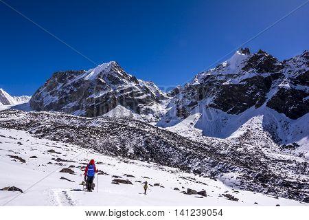 Everest Base Camp Trekking: fantastic view during trekking to the everest base camp.