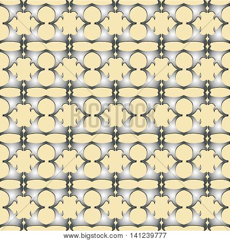 The pattern with decorative ornament on light yellow background