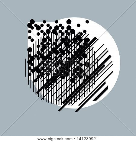 Abstract vector background geometric monochrome illustration with parallel lines