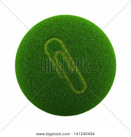 Grass Sphere Paperclip Icon