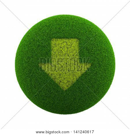 Grass Sphere Down Arrow Icon