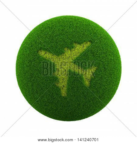 Grass Sphere Airplane Icon