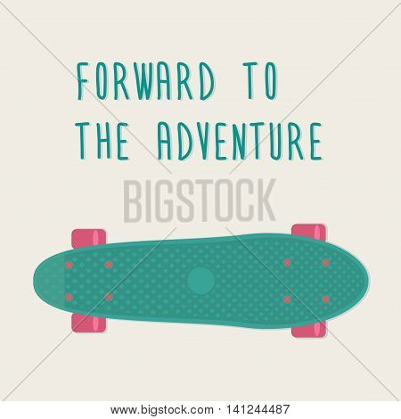 Plastic skateboards, known within the industry as a short cruiser penny board. Vector illustration.
