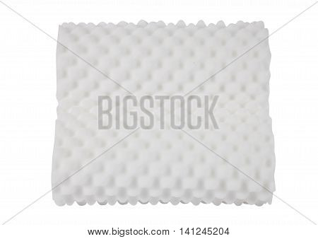 white foanm texture pillow isolated on white background