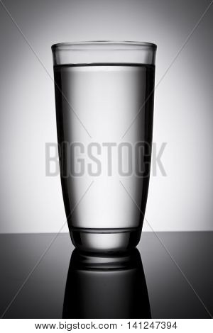 a healthy glass of water with abstract background