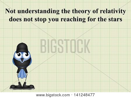 Reach for the stars message on graph paper background with copy space for own text