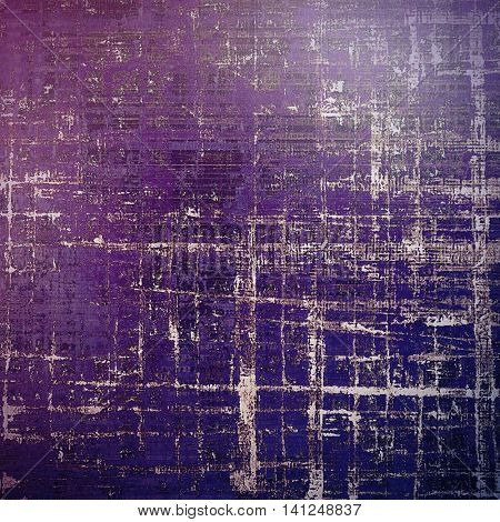 Aged vintage background with weathered texture, grunge design elements and different color patterns: brown; gray; blue; purple (violet); pink