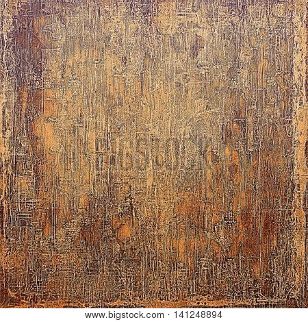 Aged grunge graphic background with shabby texture in vintage style and different color patterns: yellow (beige); brown; gray; red (orange); purple (violet)