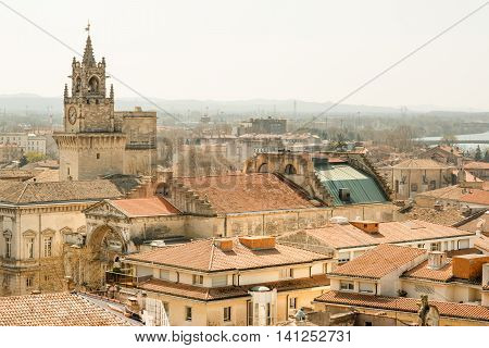 The old city of Avignon in Provence, Southern France