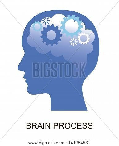 Modern flat design vector illustration concept of brain and creative process for graphic and web design
