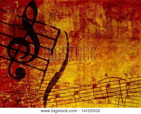 Abstract grunge melody textures and background