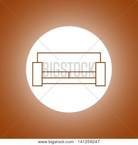 Sofa Icons. Modern Design Flat Style Icon.