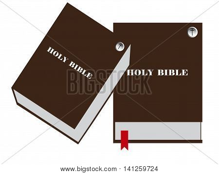 Bible vector image Bible closed vector illustration