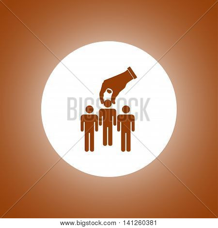 Select Of Good Man Icon, Vector Illustration.