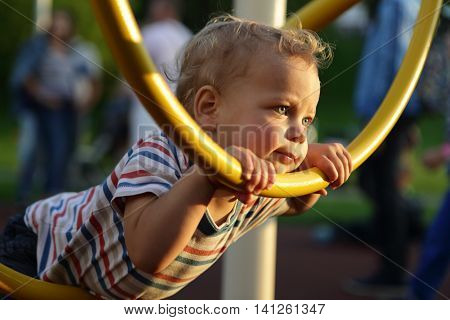 Child Climbing Ring Obstacle