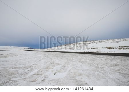 An empty road in the middle of nowhere, Iceland 2014