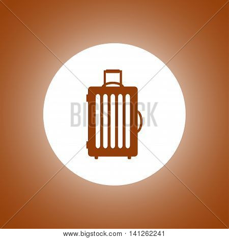 Travel Bag Icon. Vector Concept Illustration For Design