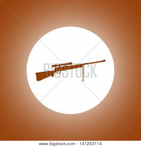 Sniper Rifle Icon. Vector Concept Illustration For Design.