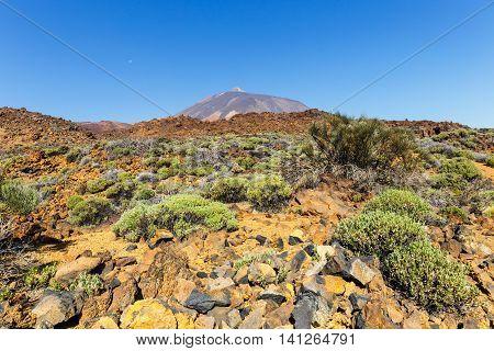 View Of The Volcano El Teide In Tenerife, Canary Islands, Spain