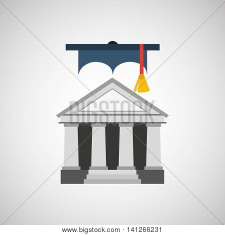 university grad, education ceremony icon, vector illustration