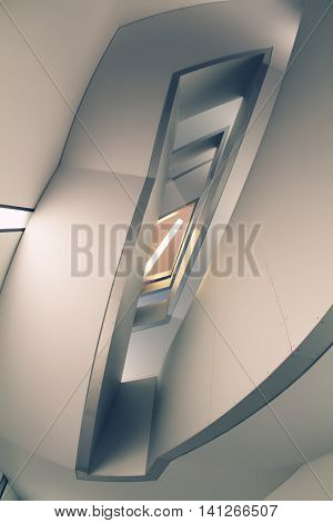 Lines And Angles Of Modern Funnel Staircase