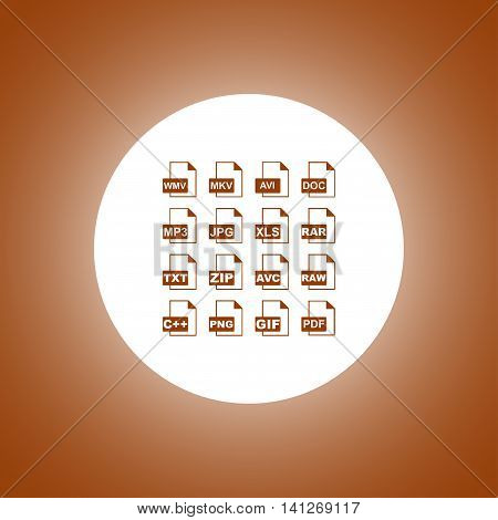 File Icons. Vector Concept Illustration For Design