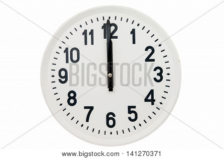 big clock numeral  isolated on white background