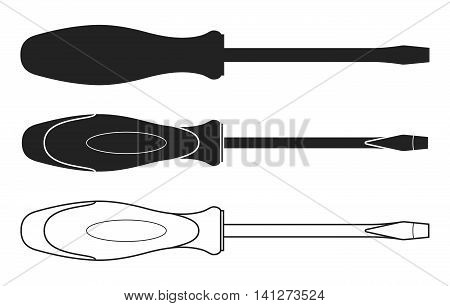 Screwdriver black and white vector icon. Screwdriver Icon. Screwdriver Icon Path. Screwdriver Icon EPS