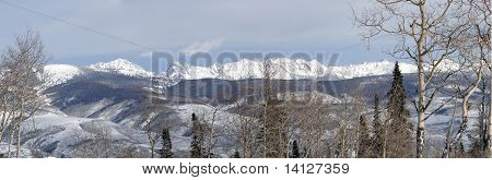 Panorama, Winter Snow On The Craggy Mountains