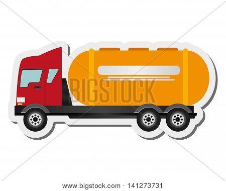 flat design cement truck icon vector illustration